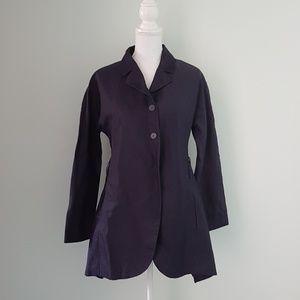 Nina Ricci asymmetrical silk summer coat/jacket